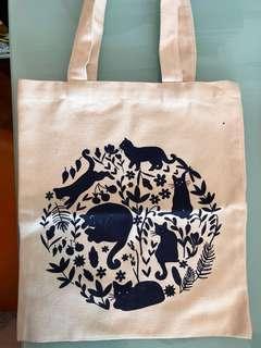 [搬屋] Lovely cats print tote