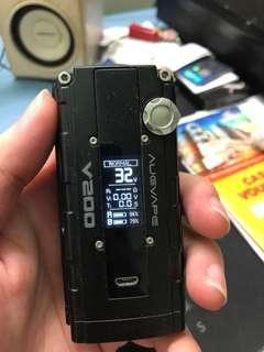 [Original] Augvape v200 box mod 200w - Black with x2 Original LG HG2 battery