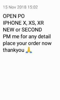 Open Pre Order iPhone X (batch 5)