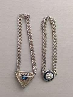 2 gold chain Necklaces