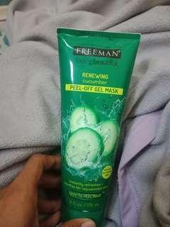 Preloved freeman cucumber peel off gel mask