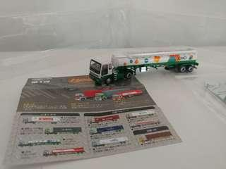 [散裝]全新超級精細版 已絕版tomytec 1:150 n gague 第一彈五十菱運油車 isuzu jomo oil tank trailer