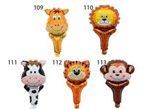 *FREE DELIVERY to WM only / Ready stock* Hand foil animal design balloon each as shown design / color.  Free delivery applied for this item with min 15pcs.