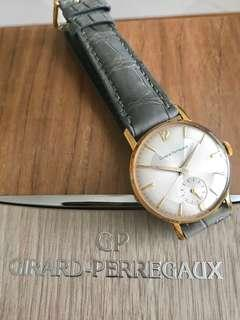 """Girard Perregaux Vintage Le Petit Seconds """"Pan Pie 'Prism' Dial"""" Rare Upturned Chopper Delphine Hands (small seconds at six) fully overhauled NOS with brand new luxurious original box 🌟Unisex - size and design suitable for both ladies and gentlemen"""