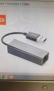 Xiaomi USB to RJ45 UTP Ethernet cable
