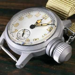 1940s WWII Elgin USN BUSHIPS Military Canteen Watch