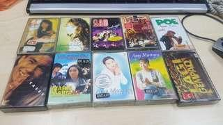 Assorted cassettes tapes rm 15 each