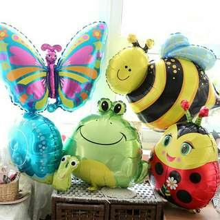 *FREE DELIVERY to WM only / Pre order +-10-14 days* Insects design balloon set without air as shown design / color.  Free delivery is applied for this item.
