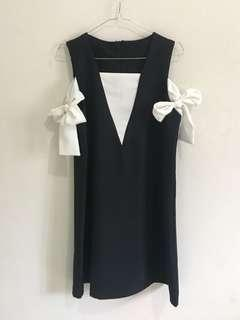Black Dress with Ribbon on the side