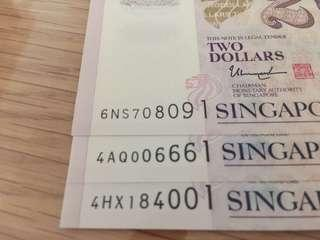 Brand new nice beginning number SGD notes
