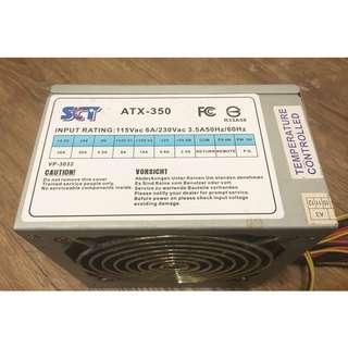 (二手)SCT/350W/電源供應器/ATX電源/型號:ATX-350