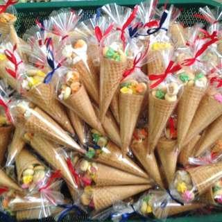 Doorgift biskut cream aiskrim cone