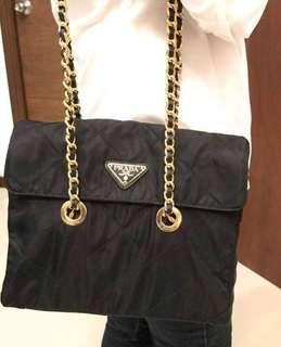 Authentic Prada Bag/Chain Bag/Tessuto Impuntu