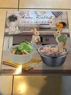 🚚 安妮兔26cm不鏽鋼健康湯鍋