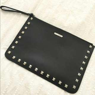 GUC Rebecca Minkoff Studded leather clutch