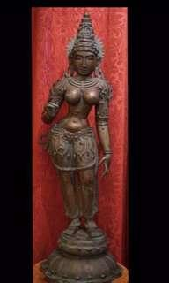 8 Metal  Parvati From India 80 Years Old
