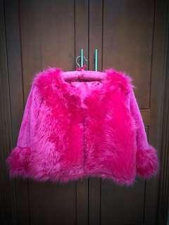 Faux Fur Pink Coat XL-XXL
