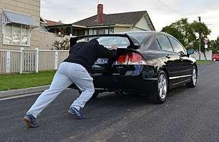 Car push workout Functional training