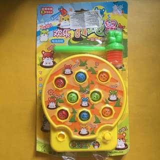 全新 電動 歡樂打地鼠 小朋友玩具