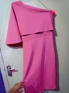Mini Dress Dusty Pink Premium Scuba