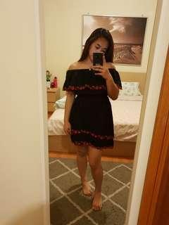 Black Rosa Off Shoulder Dress