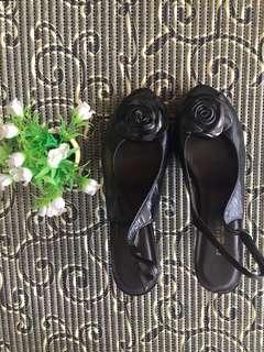 Thomas Chan black Jelly heels