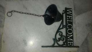 Gus iron welcome bell