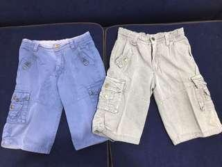Rugged cargo shorts with adjustable waist (for 8 to 10 years old)