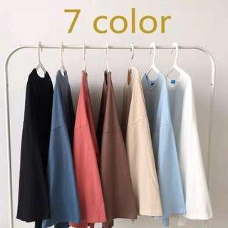 Pastel colour plain blouse