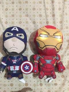 Talking Iron man and captain america