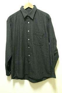 🚚 🔥古著 黑白 格子 格紋 長袖 襯衫 上衣 休閒 百搭 稀有 老品 復古 Vintage
