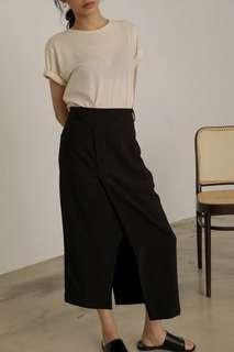 studiodoe 不對稱造型黑鉛筆裙-M-黑