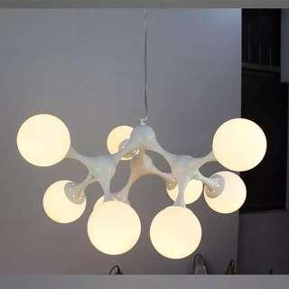 Molecular designer ceiling lamp - 9 bulbs