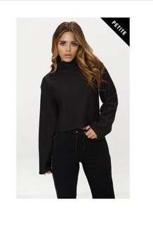 PLT cropped high neck sweater