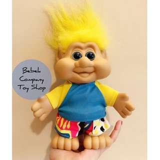 美國🇺🇸8吋 1991年 包子臉 Troll doll Trolls 醜娃 巨魔娃娃 幸運小子 絕版 古董玩具 玩偶