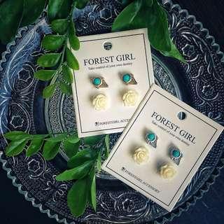 🚚 質感耳環組 兩對100 earring two pairs for 100
