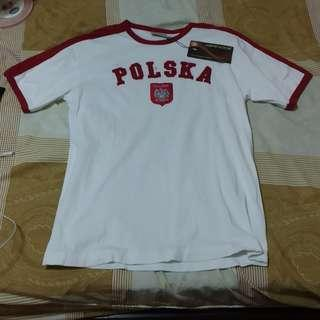 Poland Polska White Shirt Mens XL