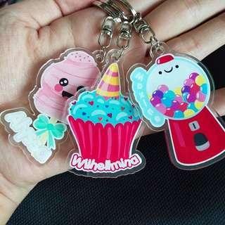 CUSTOM KEYCHAINS cupcakes candy machine