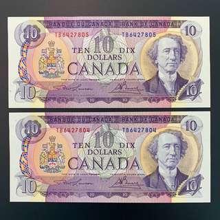 CANADA 2 x $10 OTTAWA 1971