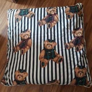 Floor cushion with bear design cover