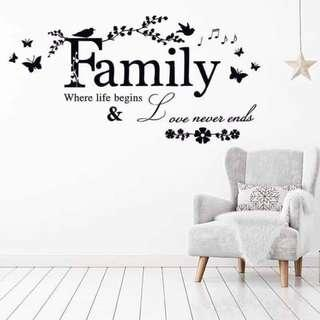Quote Wall Decal Sticker