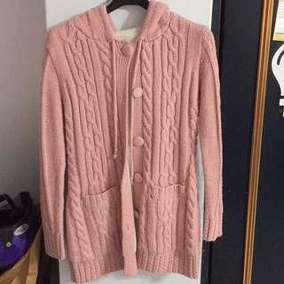 🚚 粉色針織外套