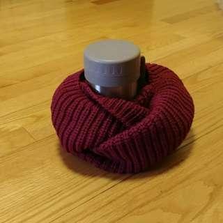 全新 棗紅色頸巾 scarf