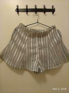 灰色直間魚尾短褲 包順豐