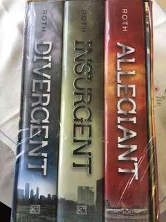 Divergent Trilogy in hard cover
