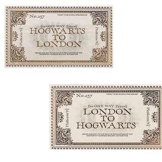 Harry Potter Hogwarts to London 2-way tickets (Universal Studios)