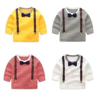 【BABYWEAR】【CLOTHING】【BOY】PCT00011 BABY CHILDREN BOY LONG SLEEVES TOP