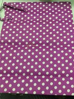 Polka Dots Laundry Pouch Bag