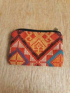 Red coins holder / pouch