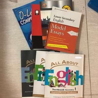 English Textbooks sec 1-3 and some assessment books for sec 2&3